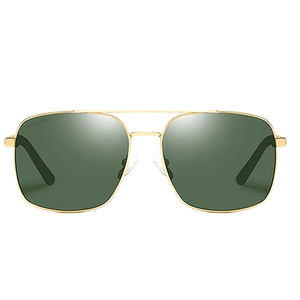 ALDO GLASSES GOLD GREEN - Magda Store