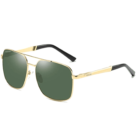 ALDO GLASSES GOLD GREEN.