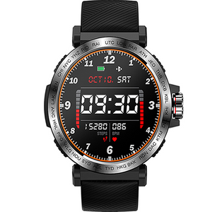 SMARTWATCH TRACKER S18 BLACK GRAY - Magda Store