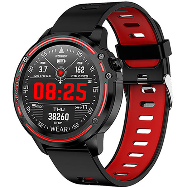 SMARTWATCH L8 SPORTS FITNESS RED - Magda Store