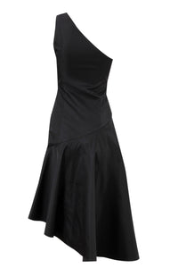 Dress with asymmetrical hem
