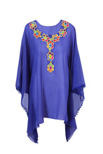Load image into Gallery viewer, Royal blue short Caftan