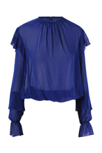 Load image into Gallery viewer, Chiffon Blouse With Ruffles