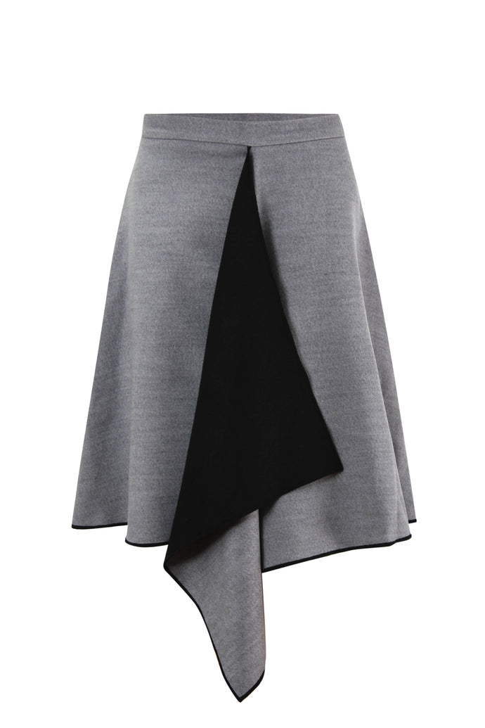 Short Wool Double Face Skirt
