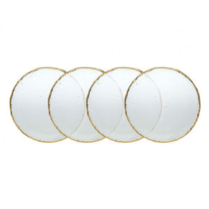 "Godinger Harper Gold Plates 8"" Set of 4"