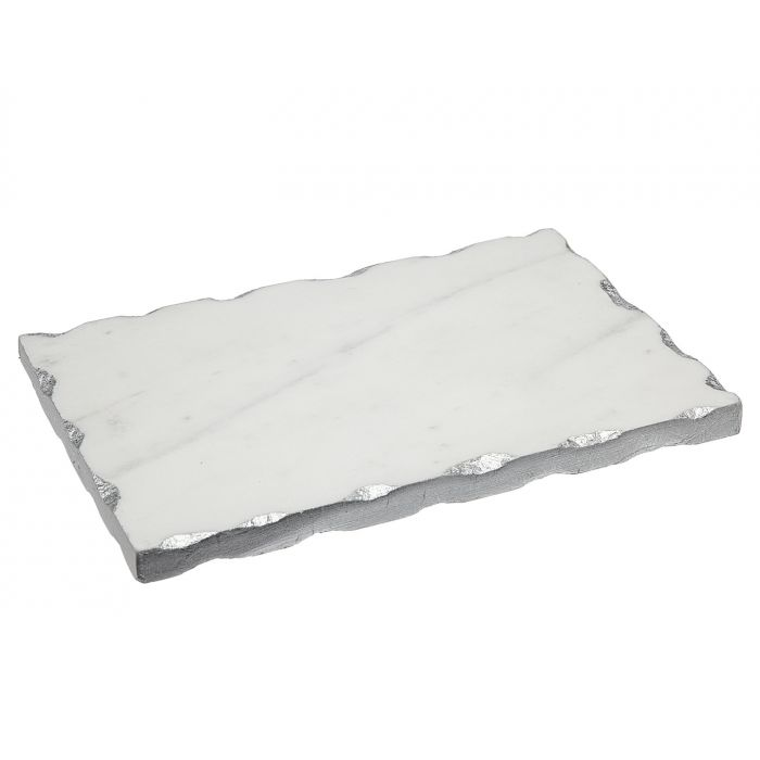 Godinger White Marble Board With Silver