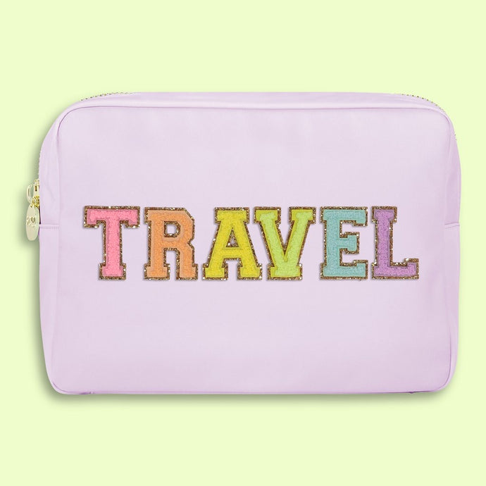 Lilac 'Travel' Large Pouch