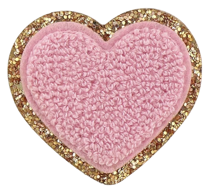 Stoney Clover Lane Glitter Heart Patch