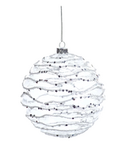 Zodax Frosted Wave Ornament