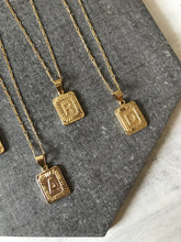 Initial Card Necklace [click for more letters]