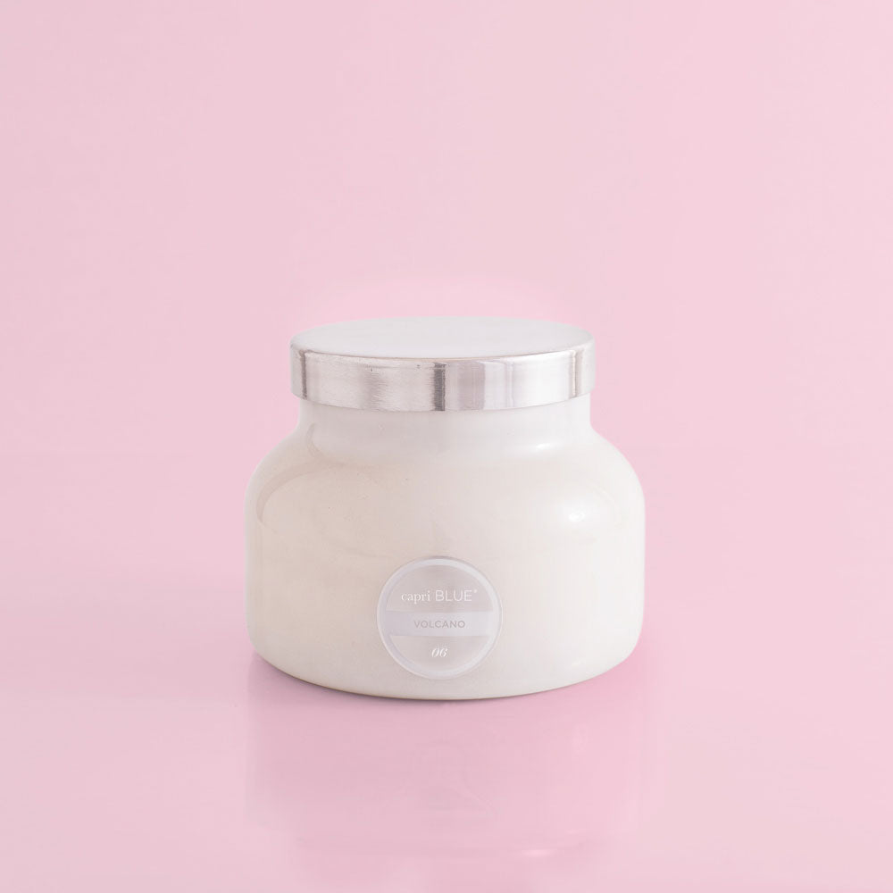 White Signature Jar Candle