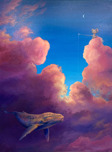 "Cloud Series - Whale 36"" x 48"" - original"