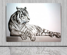 Load image into Gallery viewer, Animal Series- Tiger - Black on White