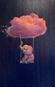 "Cloud Series - Elephant Swing 24""x36"" - Original"