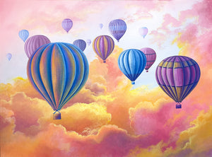 "Cloud 9- 30""x40"" Original"