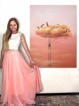 "Load image into Gallery viewer, Cloud Series - Penguins 36""x48"" - Original"