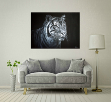 Load image into Gallery viewer, Tiger - White on Black
