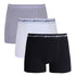 'Franklin' Classic Logo Boxers 3 Pack in Black, White & Grey