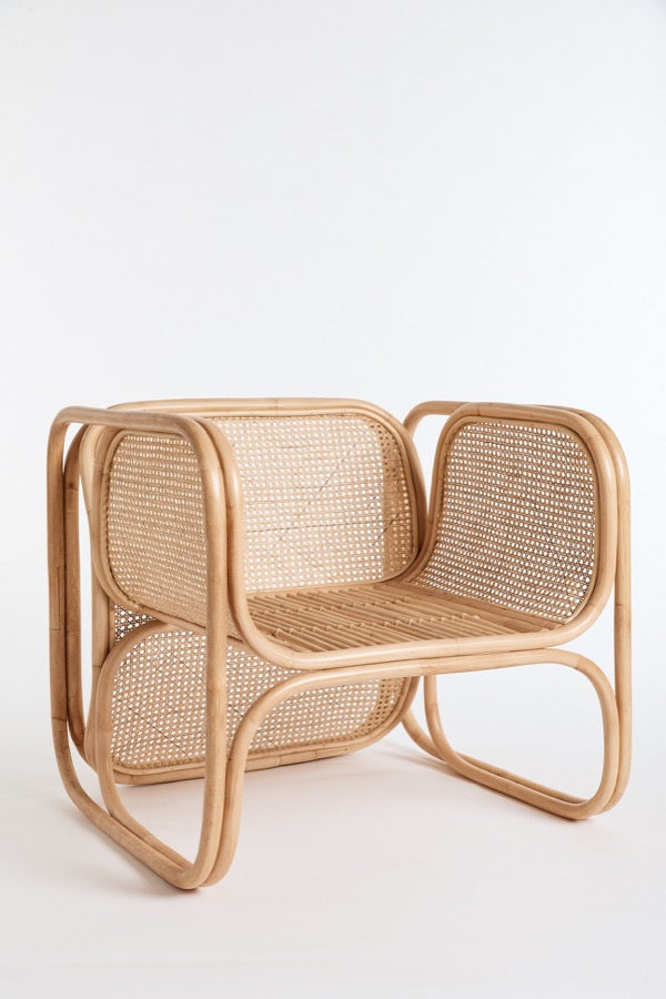 The Cane Lounger in Natural