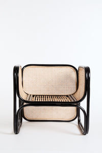 The Cane Lounger in Black