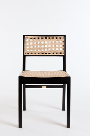 The Tissé Dining Chair in Black