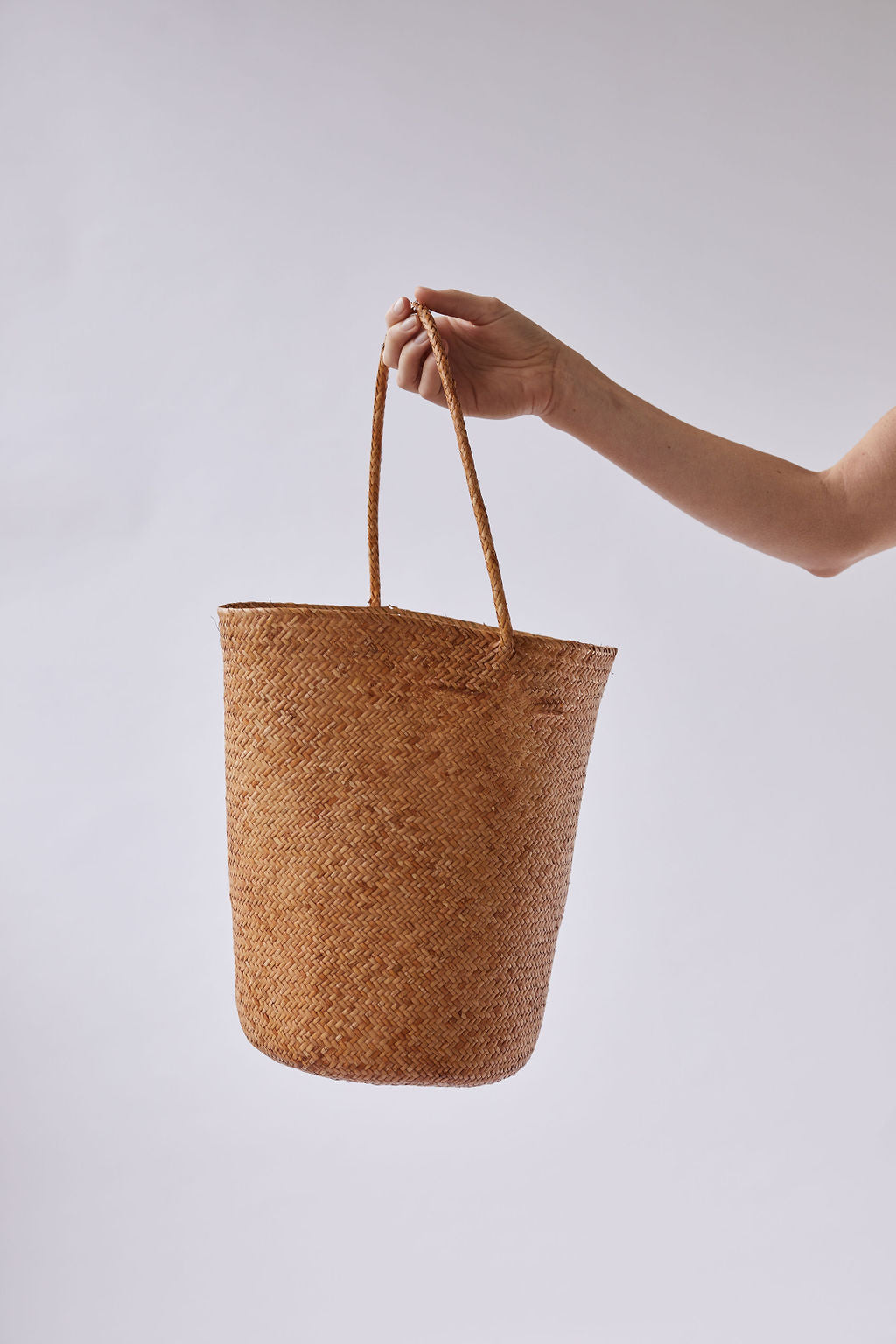 The Bucket Tote in Tan