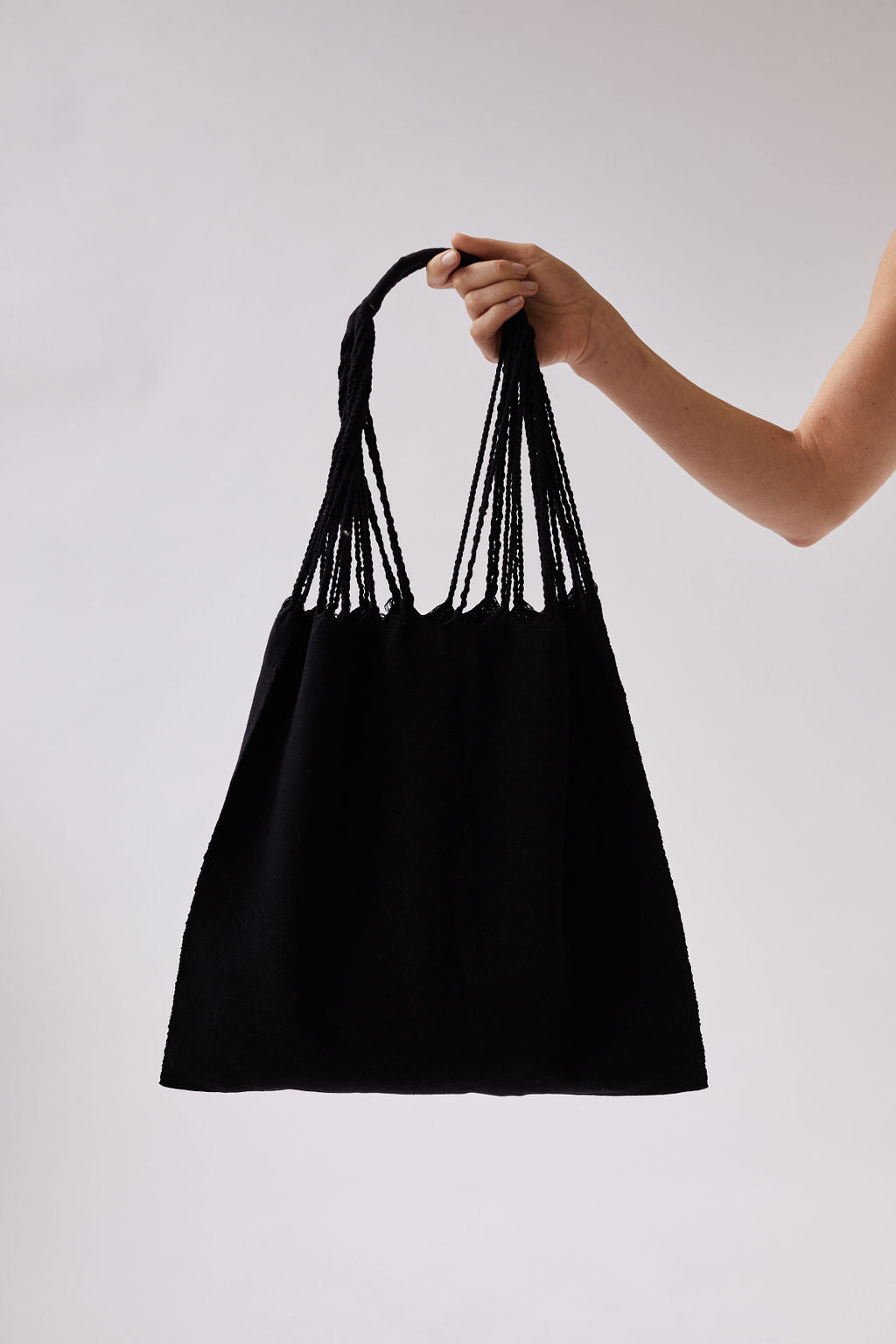 The Textile Tote in Black