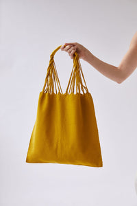 The Textile Tote in Turmeric