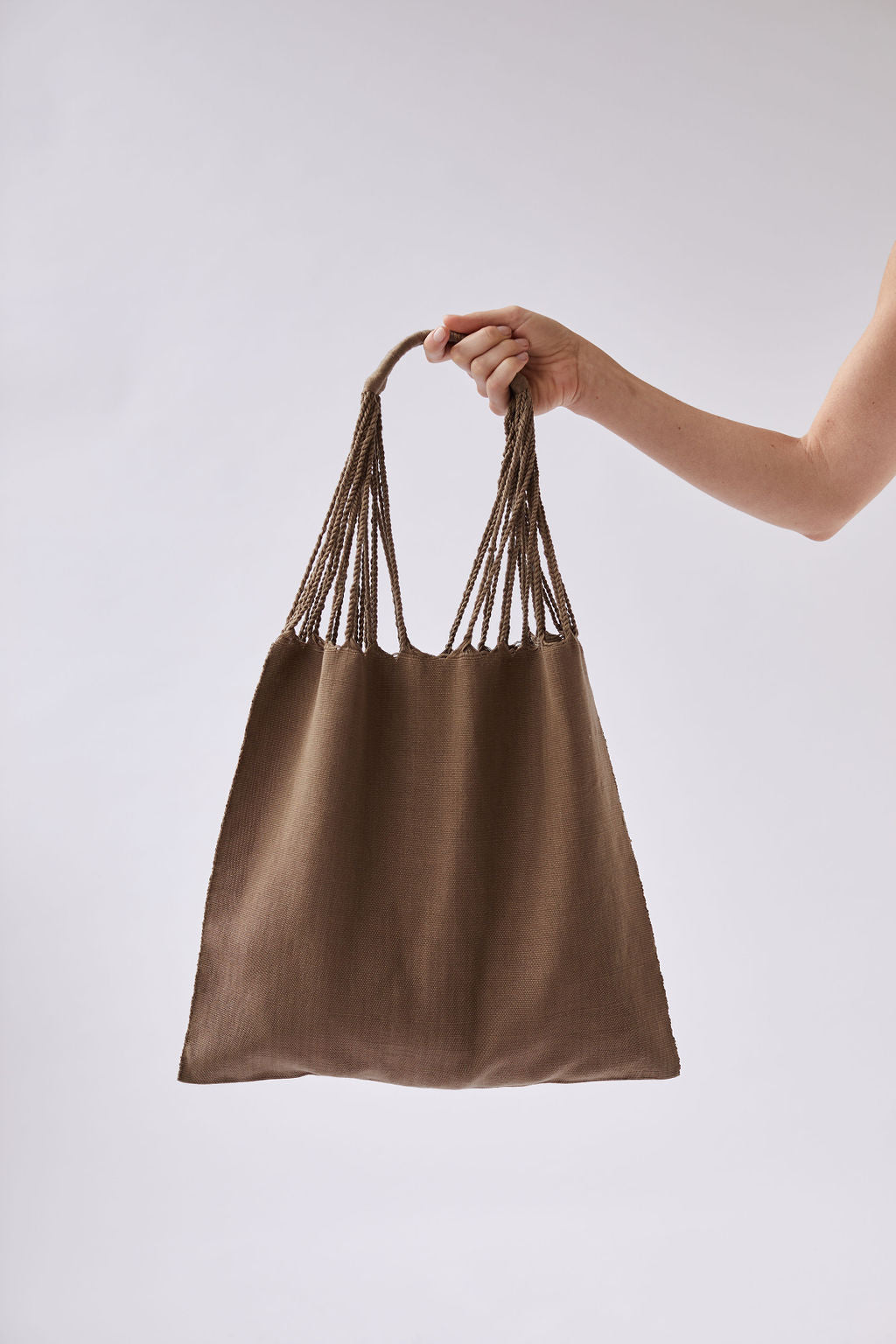 The Textile Tote in Pebble
