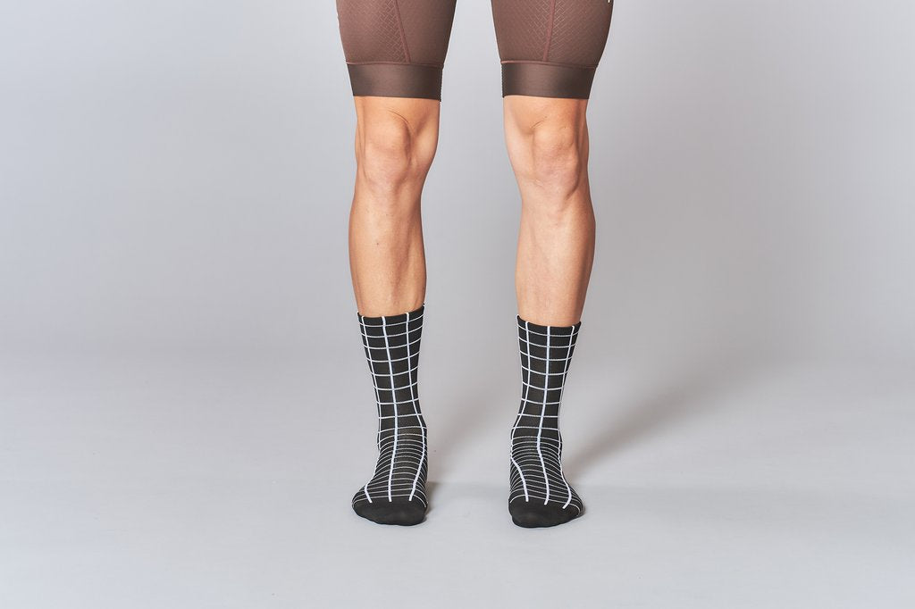 Fingers Crossed GRID Socks, AW19 - Cycle Closet