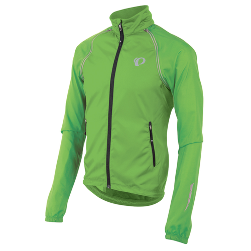 Pearl Izumi Elite Barrier Convertible Jacket Green - Cycle Closet