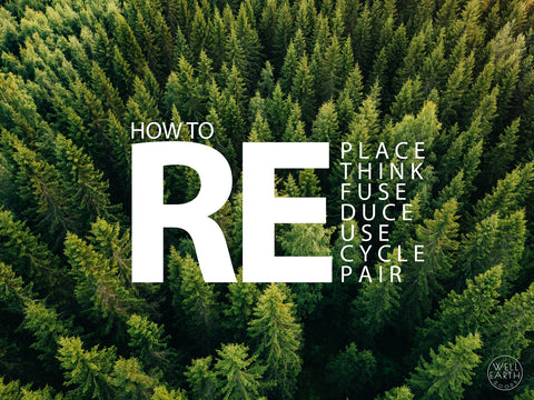The 7 R's Of Being A Good Steward Of The Earth - How to Replace, Rethink, Refuse, Reduce, Reuse, Recycle, Repair by Well Earth Goods