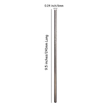 Load image into Gallery viewer, Stainless Steel Straw - 9.5 Inch Straight | Well Earth Goods