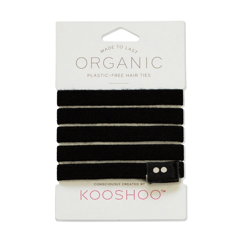 Biodegradable, Plastic Free Hair Ties, Black | Well Earth Goods