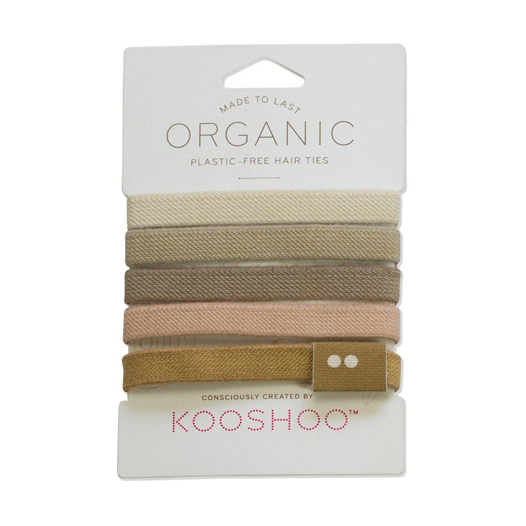 Biodegradable, Plastic Free Hair Ties, Blonde | Well Earth Goods