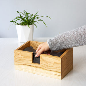 NotPaper Towel set with Cherry Wood Box | Well Earth Goods