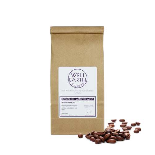 Organic Medium Dark Roast Coffee - Plastic-Free | Well Earth Goods