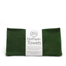 Load image into Gallery viewer, Hunter green Notpaper Towels - Flannel - 12 Pack | Well Earth Goods