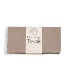 Load image into Gallery viewer, Light Grey Notpaper Towels - Flannel - 12 Pack | Well Earth Goods