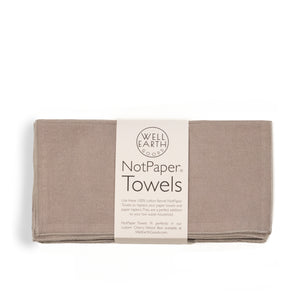 Light Grey NotPaper Towels | Well Earth Goods