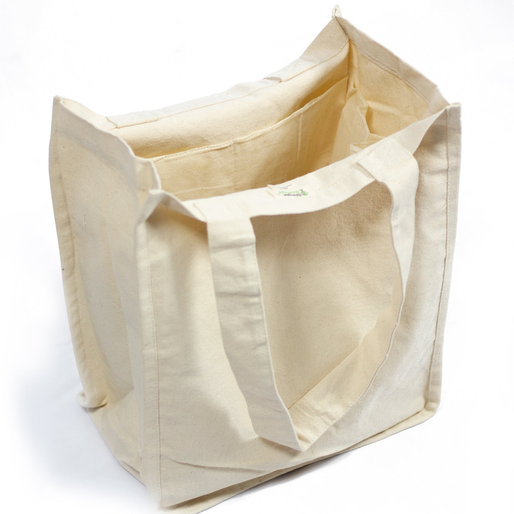 Reusable Canvas Grocery Bags, Inside Sleeves - Free Shipping ...