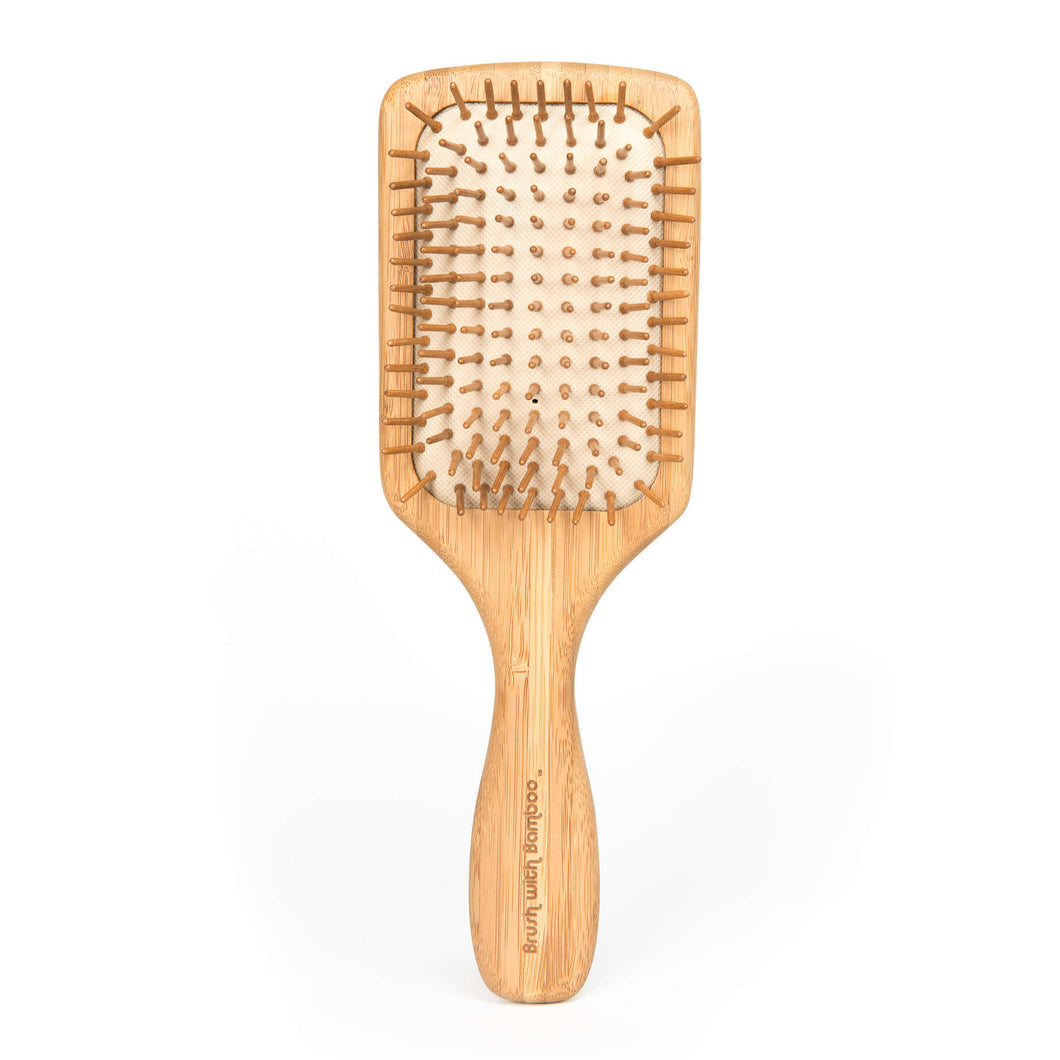 No Plastic Bamboo Hair Brush | Well Earth Goods