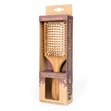 Load image into Gallery viewer, No Plastic Bamboo Hair Brush | Well Earth Goods