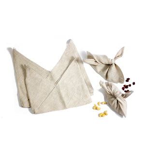 Bento Bags-Linen-Natural and Grey-3 Sizes-Free Shipping