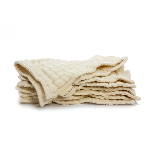 Organic Fair Trade Certified Washcloths | Well Earth Goods