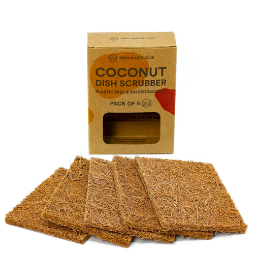 No Plastic Coconut Dish Scour Pads - 5 pack | Well Earth Goods