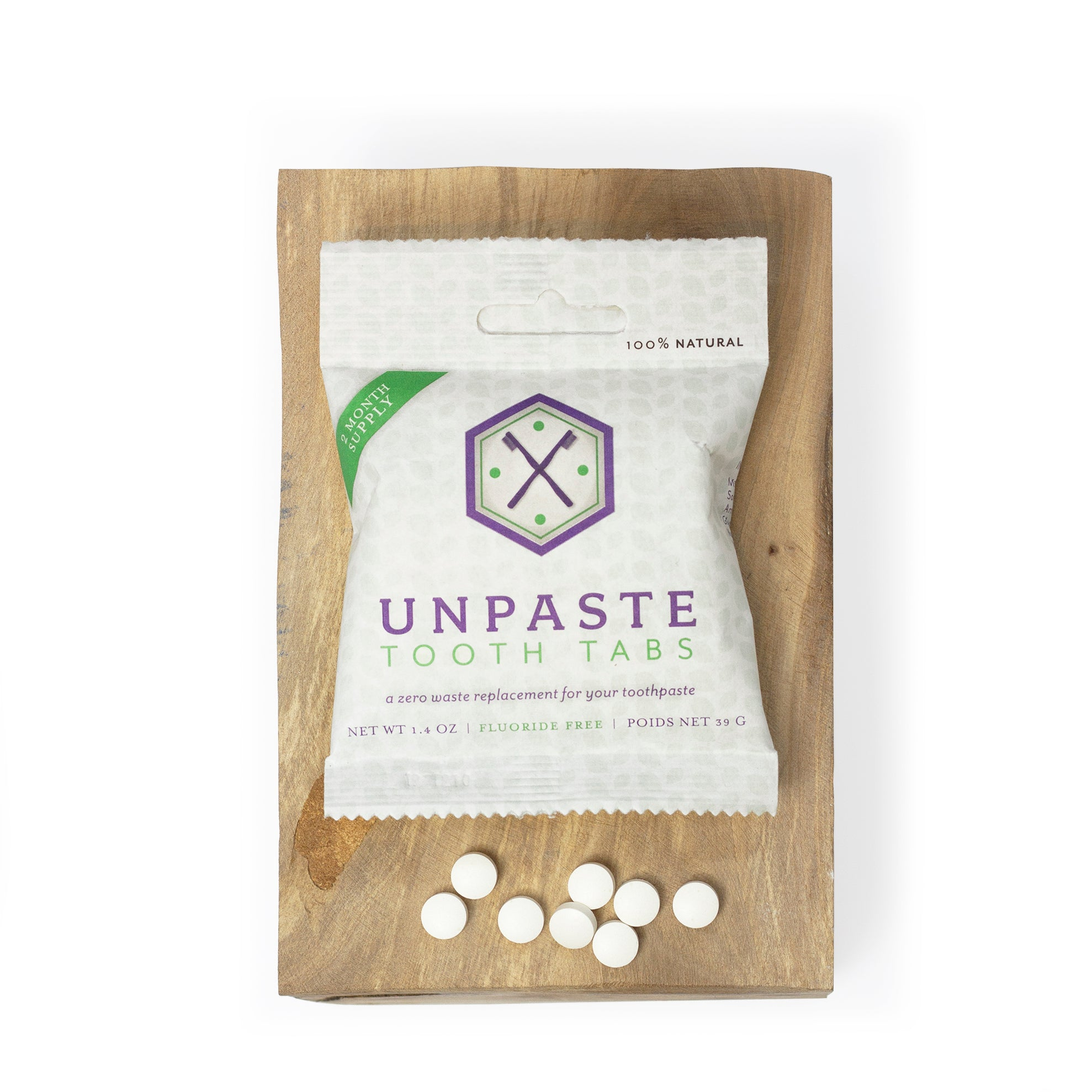 Unpaste Zero Waste Toothpaste Tablets 125 Count Well Earth Goods