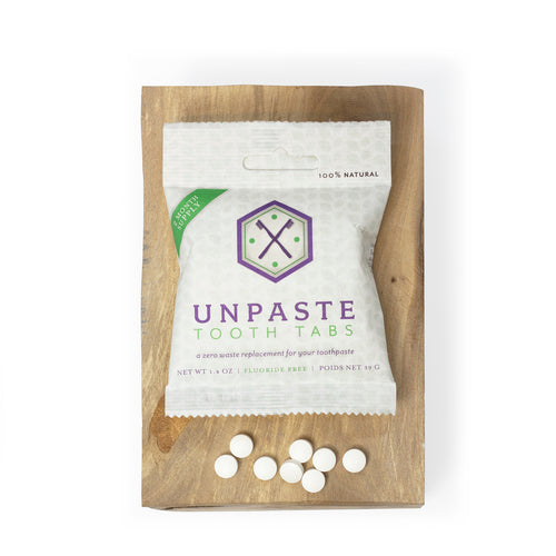 Unpaste Zero Waste Toothpaste Tablets, 2 Month Supply | WellEarthGoods