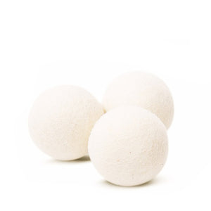 White Organic Wool Dryer Balls | Well Earth Goods