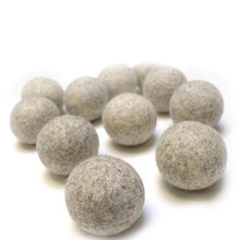 Load image into Gallery viewer, Grey Organic Wool Dryer Balls | Well Earth Goods